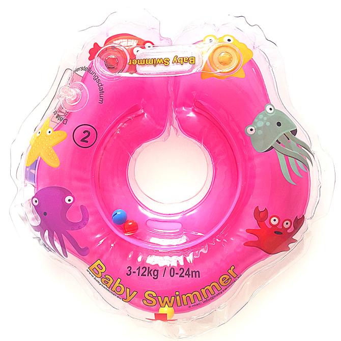 babyswimmer-różowy-kołnierz-koło-do-kąpieli-dla-niemowląt-BS01O-B-P-0