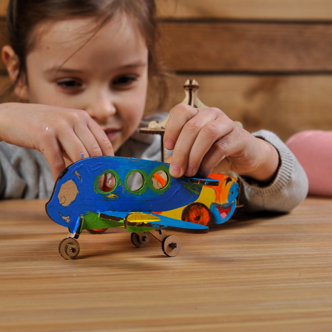 Ugears 4Kids coloring Airplane 7