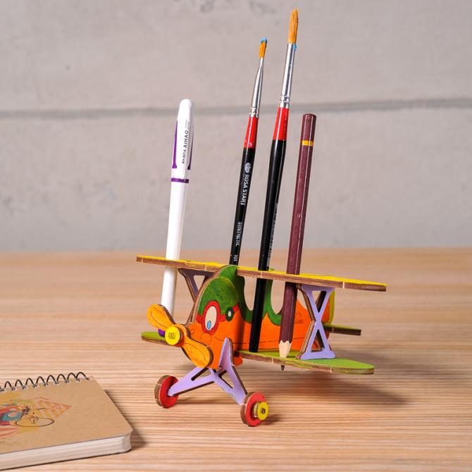 Ugears 4Kids coloring Biplane 12