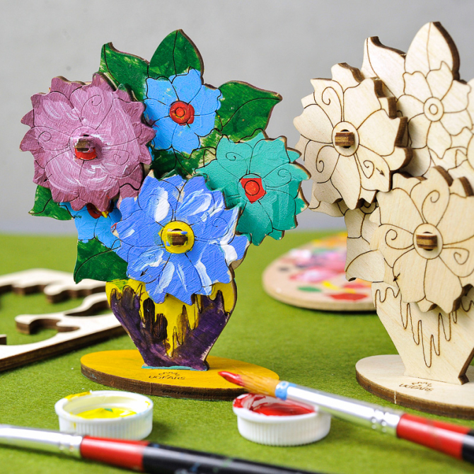 Ugears 4Kids coloring Bouquet 3