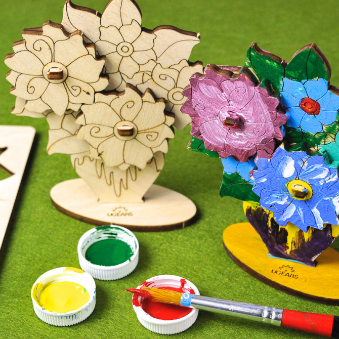 Ugears 4Kids coloring Bouquet 6