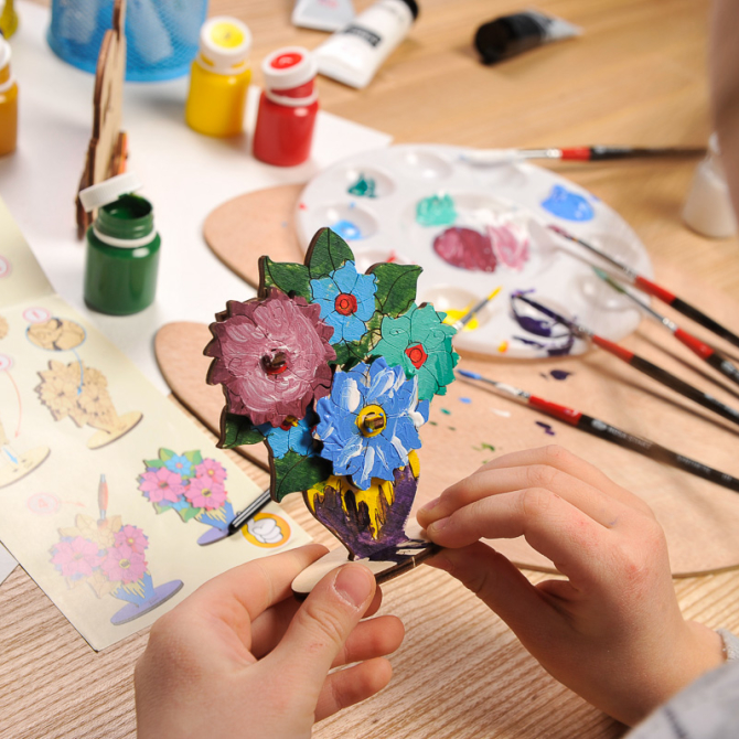 Ugears 4Kids coloring Bouquet 9