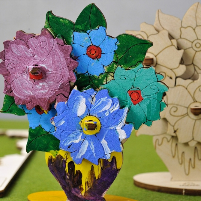 Ugears 4Kids coloring Bouquet Title Photo in Catalogue