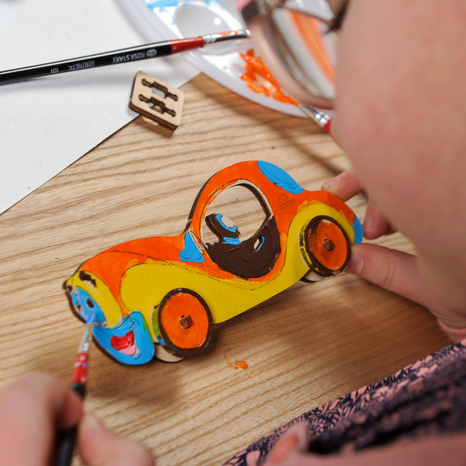 Ugears 4Kids coloring Car 13