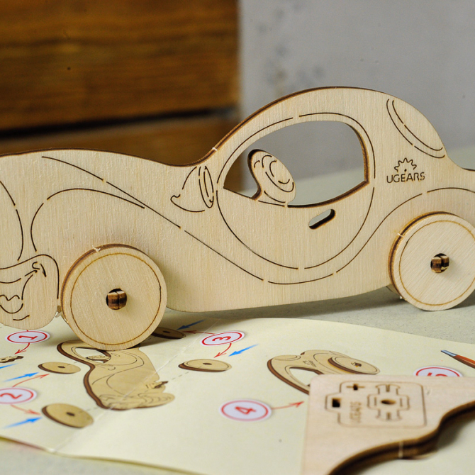 Ugears 4Kids coloring Car 14