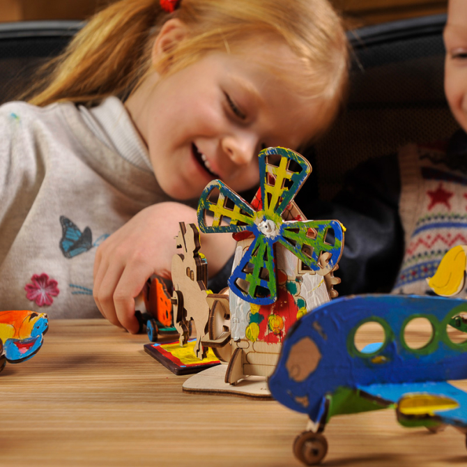 Ugears 4Kids coloring Car 6