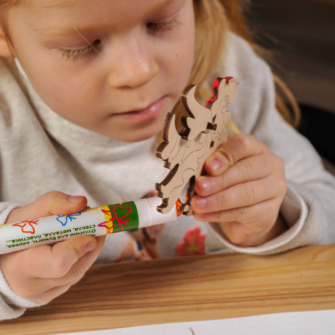Ugears 4Kids coloring Cockerel 16