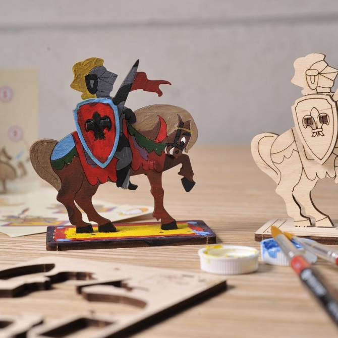 Ugears 4Kids coloring Knight Title Photo in Catalogue