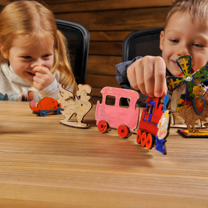Ugears 4Kids coloring Locomotive 5