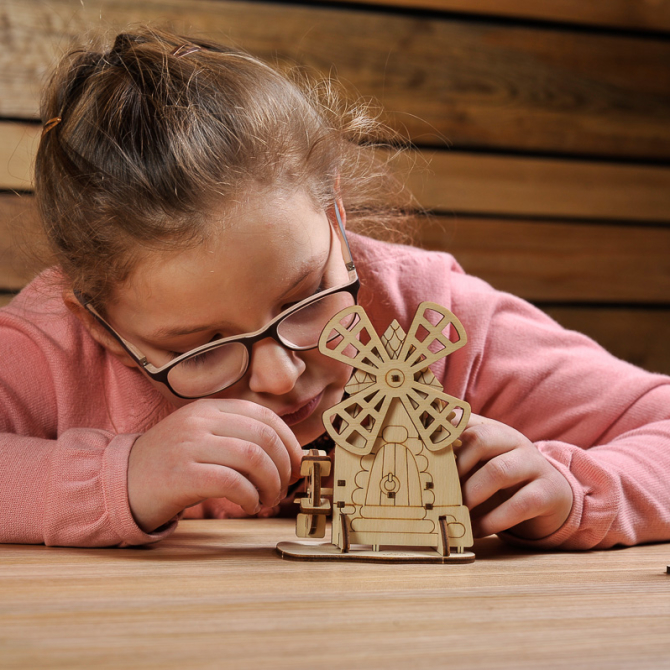 Ugears 4Kids coloring Mill 14