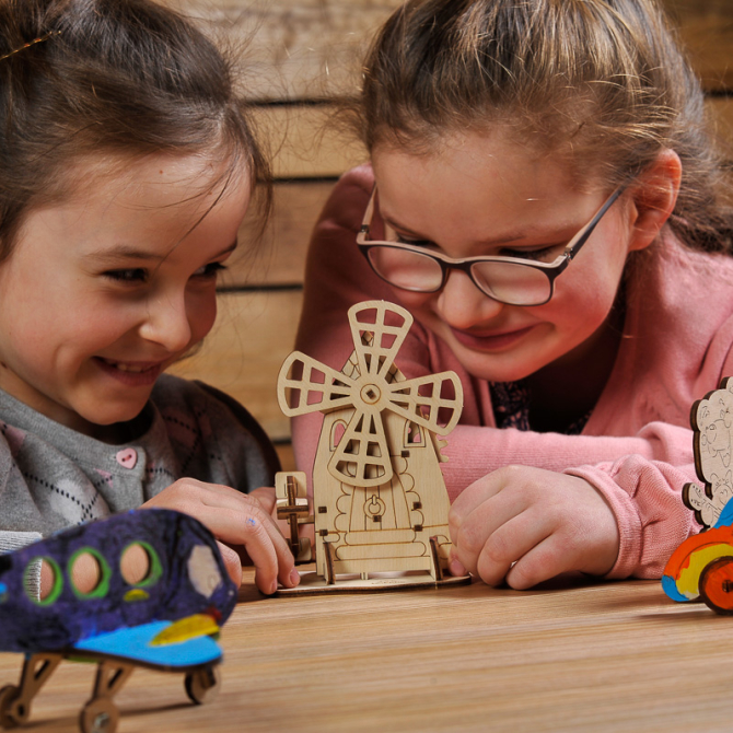Ugears 4Kids coloring Mill 17