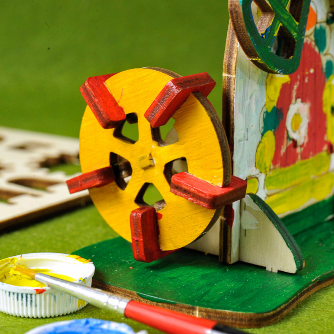 Ugears 4Kids coloring Mill 7