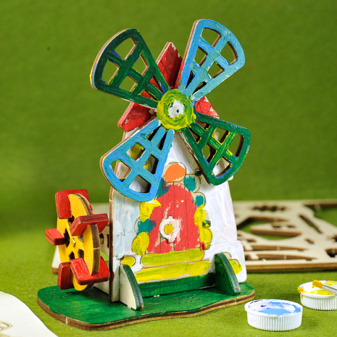 Ugears 4Kids coloring Mill 9