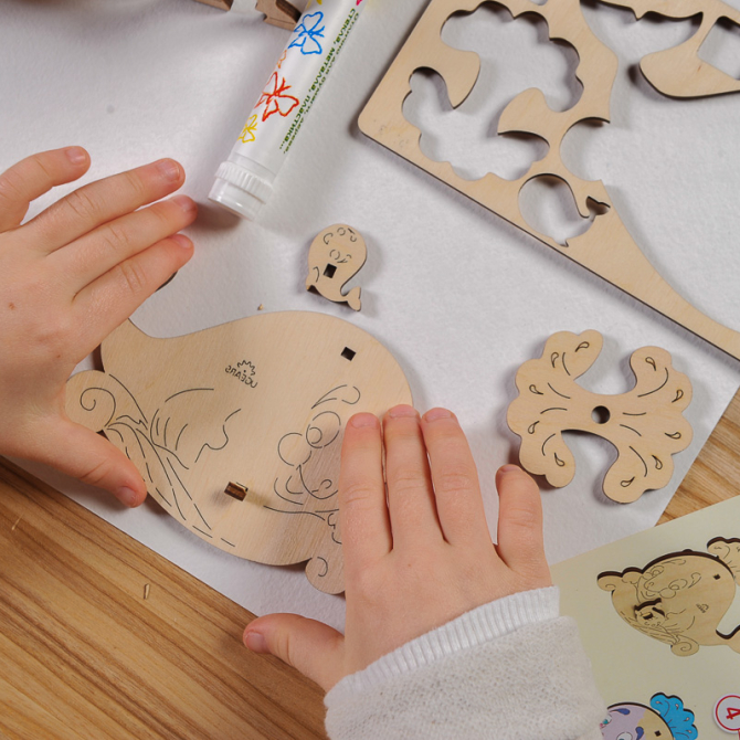 Ugears 4Kids coloring Whale 5