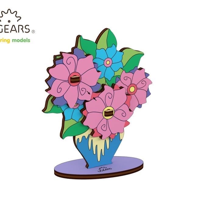 Ugears Coloring Model Bouquet