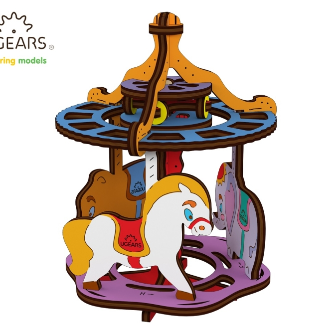 Ugears Coloring Model Merry-go-round